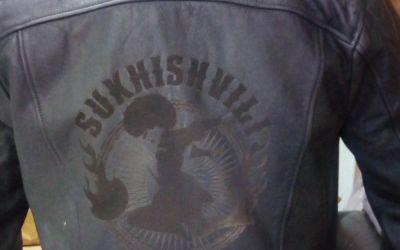Лазерная гравировка на кожаной куртке